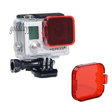 Red Lens Filter For GoPro HD Hero 3 Housing Case For Sea Dive Underwater Shoot