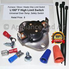 Universal Furnace Heating Disc Limit Switch L180 +Hardware/Instruction FREE Ship