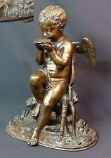 1820 superbe sculpture Lemire Sauvage Bronze 6kg36c Amour cupidon ange angelot