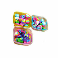 22Pcs(1 Box) Cute Rubber Eraser Multicolor Pencil Eraser Stationery Random Color