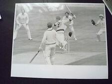 Cricket Press Photo-KIM HUGHES,BOB WILLIS in 1981 Aust. v England 3rd Test Match