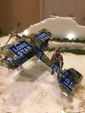 Lone Star CAMO Plane HANDCRAFTED from Cans Art Aircraft TEXAS