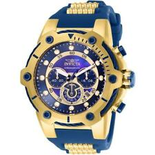 Invicta Bolt 26816 Men's Blue/Gold-Tone Polyurethane and Cable Chronograph Watch