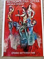 Marc Chagall  Poster  (1978) for Metropolitan Opera  16X11  pp Vintage