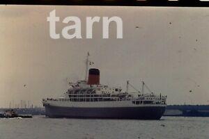 35mm slide Shipping scene Cruise ship Transual Castle Southampton 1960s r183