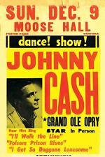 Vintage Concert Poster Rare Johnny Cash Ventura California 16x24