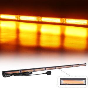 """Amber COB LED Traffic Advisor Emergency Warning Strobe Light Bar for Trucks 45"""""""