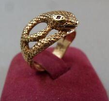 Jugendstil Schlangenring Damenring Gold 9 Karat 375 punziert Rubin Ring um  1910