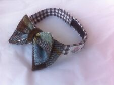 Harris tweed double sided bow tie made in Scotland groomsmen gift