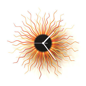 Medusa copper - large size contemporary wooden wall clock, boho clock in copper