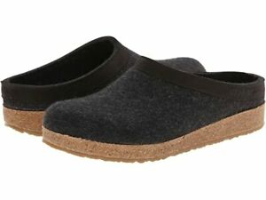 Haflinger GZL Charcoal Leather Trim Grizzly Unisex Clog  - NEW - Choose Size