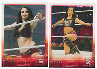 2015 Topps WWE Complete 100 Card Base Set w/ AJ Lee, Paige + 10 card NXT set