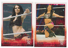 2015 Topps WWE Complete 100 Card Base Set w/ AJ Lee, Paige + 10 card NXT set