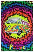 """Michael Fishel Blacklight Poster Octopus Garden by 23/"""" x 35/"""" Flocked"""