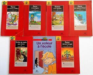 LOT de 7 Livres RATUS POCHE ROUGE Série Lecture Bons Lecteurs 7 - 8 ans HATIER