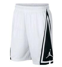 Mens Nike Jordan Dri Fit Basketball Loose Fit Shorts MEDIUM White