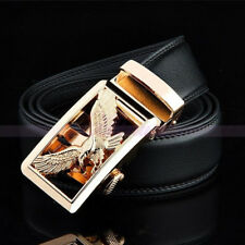 Mens Eagle Leather Waistband Dress Formal Strap Automatic Buckle Business Belt T