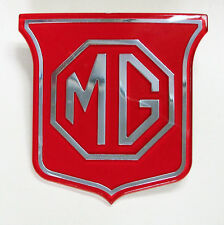 MGB & MGBGT British Made Red & Silver Front Grill Badge, BHH829
