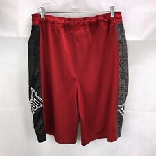 Tapout Gym Shorts Mens Size M  Black/Red/White Drawstrings Workout Embroidered