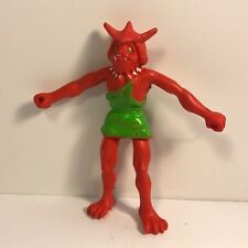 VINTAGE 1982 ARCO OTHER WORLD ACTION FIGURE BENDABLE ZENDO KING MOGS RED MONSTER
