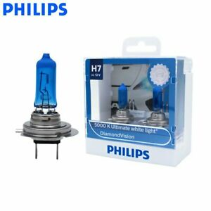 H7 PHILIPS Diamond Vision 5000K Ultimate White Light Bulbs Globe 55W 12V Pair AU