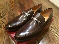 650$ Bally Brown Lebel Leather Loafers Size US 12 Made in Switzerland