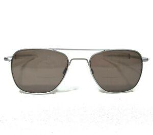 Randolph Engineering Sunglasses Glasses Frames Silver Aviators 5-1/2 Made in USA