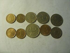 LOT OF 10 BULGARIA COINS  1- 50 STOTINKI 1962-2000 MIXED TYPES