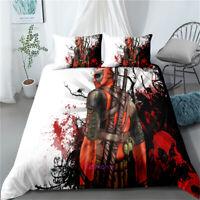 White Deadpool Doona/Quilt/Duvet Cover Set Queen/Single/Double/King Size Bed