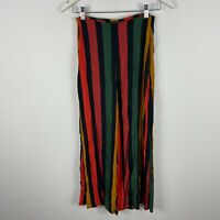 Glassons Womens Pants 6 Multicoloured Striped Straight Zip Closure