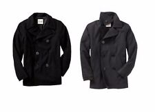 NEW OLD NAVY CHARCOAL WOOL PEA COAT, SIZE L