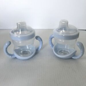 LOT of 2 - POTTERY BARN KIDS Sippy Cup 2-Handle Blue with Lid - NEW