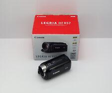 CANON LEGRIA HF R57 CAMCORDER BOXED DIGITAL 8GB MEMORY WI-FI 1080P HD SDHC CARD