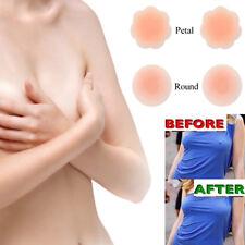 2 Pair Reusable Self Adhesive Silicone Breast Bra Petal Nipple Cover Pad Pasties