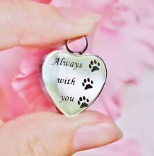 Cremation Jewelry Pendant Urn Paw Print Always with You Dog Cat Pet In My Heart