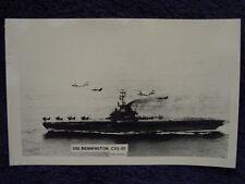 RPPC US Navy AERIAL REFUELING Over USS BENNINGTON Aircraft Carrier CVS20 LL Cook