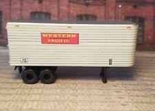 HO Scale. Custom designed Western Pacific 30' Piggyback trailer. 2