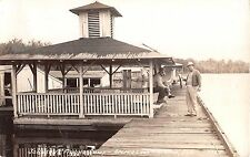 1930's RPPC Johnsons' Fishing Camp Apopka Lake Apopka FL