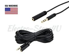 3.5mm Male to Female Audio Cable 3ft 6ft 10ft 25ft 50ft 75ft 100ft Extension Lot