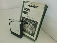 Word Fued Game for Colecovision W/TORN Label Cartridge & Copied Manual C21