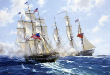 Canvas Print Oil Painting picture Sea war Printed on canvas 16