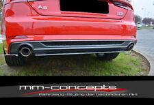 CUP Diffusor Ansatz für Audi S5 A5 S Line F5 Heck Stoßstange Diffuser Vers1