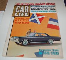 VINTAGE CAR LIFE MAGAZINE OLDSMOBILE CUTLASS DODGE POLARA DECEMBER 1963