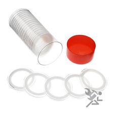 Silver Philharmonic Holder, Red Capsule Tube & 20 Air-Tite 37mm White Rings