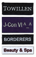 Custom Name/Text Embroidered Patches
