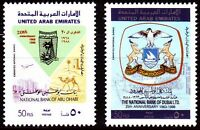 UAE 1988 ** Mi.253/54 Bank of Dubai / Abu Dhabi