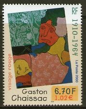 TIMBRE 3350 NEUF XX LUXE - GASTON CHAISSAC - VISAGE ROUGE