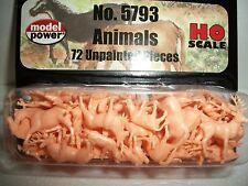 Model Power HO Scale 72  Farm & Wild Animals Unpainted Bob The Train Guy