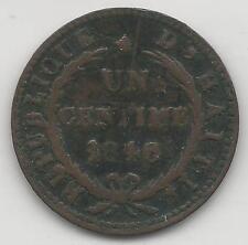 HAITI,   1846, AN43,   CENTIME,  COPPER,  KM25.2