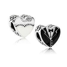 Authentic 925 Sterling Silver Pandora Our Special Day Wedding Charm 791840ENMX